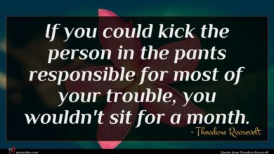 Photo of Theodore Roosevelt quote : If you could kick …