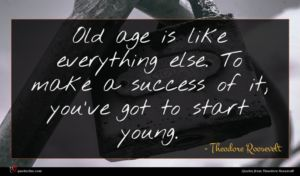 Theodore Roosevelt quote : Old age is like ...