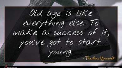 Photo of Theodore Roosevelt quote : Old age is like …