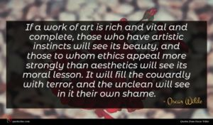 Oscar Wilde quote : If a work of ...
