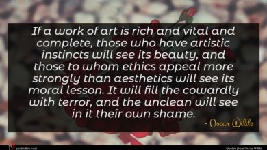 Photo of Oscar Wilde quote : If a work of …