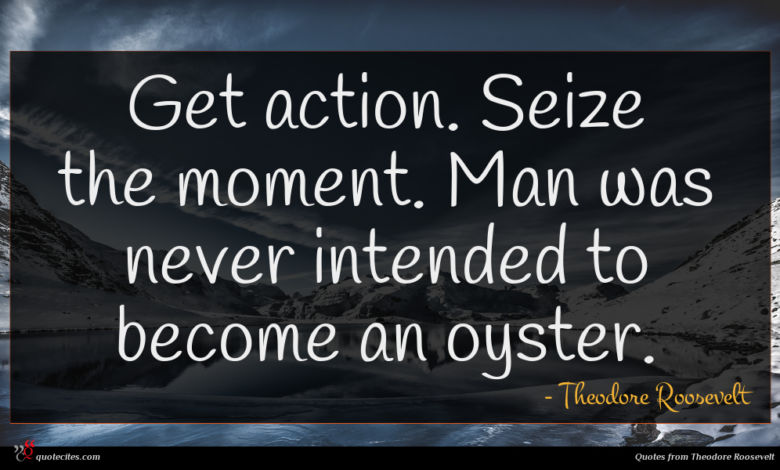 Photo of Theodore Roosevelt quote : Get action Seize the …