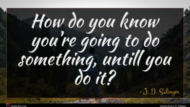 Photo of J. D. Salinger quote : How do you know …