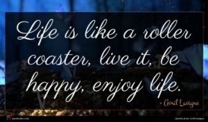 Avril Lavigne quote : Life is like a ...