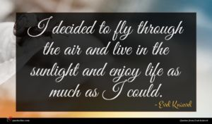 Evel Knievel quote : I decided to fly ...