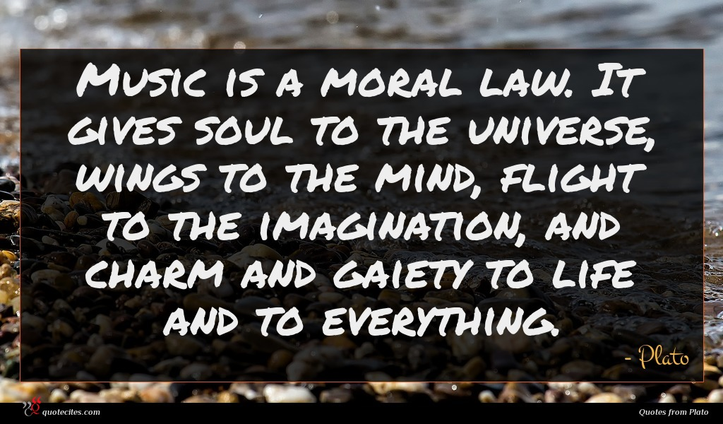 Plato Quote Music Is A Moral