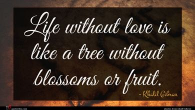Photo of Khalil Gibran quote : Life without love is …