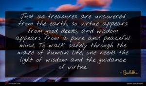 Buddha quote : Just as treasures are ...