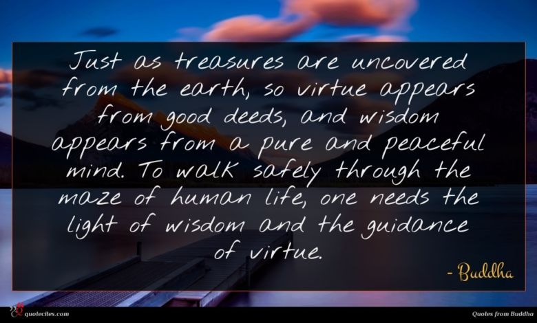 Photo of Buddha quote : Just as treasures are …