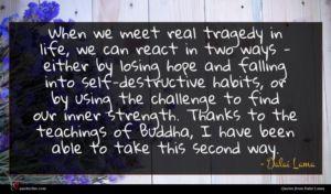 Dalai Lama quote : When we meet real ...