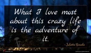 Juliette Binoche quote : What I love most ...