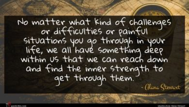 Photo of Alana Stewart quote : No matter what kind …