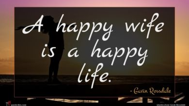Photo of Gavin Rossdale quote : A happy wife is …