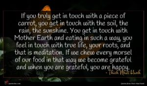 Thich Nhat Hanh quote : If you truly get ...