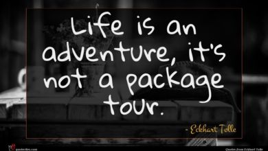 Photo of Eckhart Tolle quote : Life is an adventure …