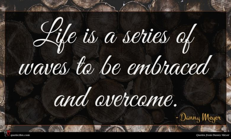 Life is a series of waves to be embraced and overcome.