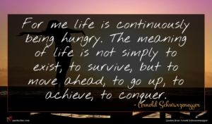 Arnold Schwarzenegger quote : For me life is ...