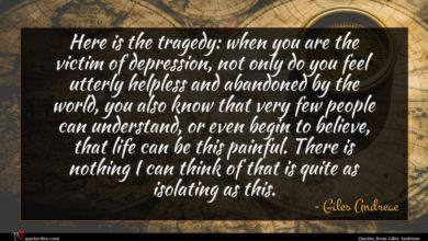 Photo of Giles Andreae quote : Here is the tragedy …