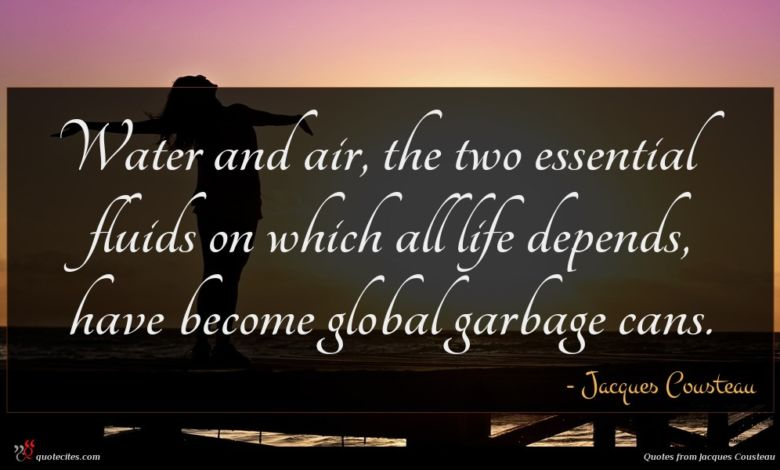 Water and air, the two essential fluids on which all life depends, have become global garbage cans.