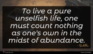 Buddha quote : To live a pure ...