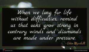 Peter Marshall quote : When we long for ...
