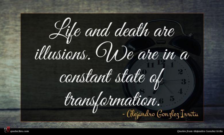 Photo of Alejandro Gonzlez Irritu quote : Life and death are …