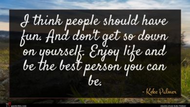 Photo of Keke Palmer quote : I think people should …