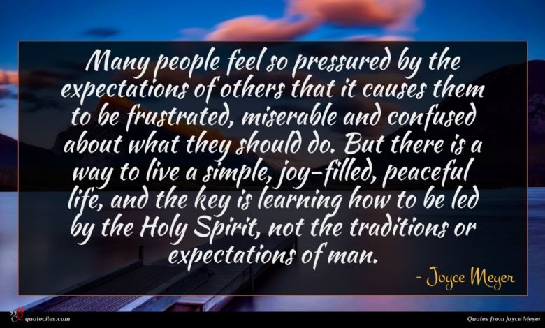 Photo of Joyce Meyer quote : Many people feel so …