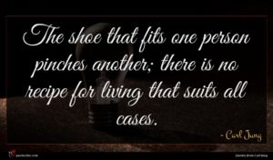 Carl Jung quote : The shoe that fits ...