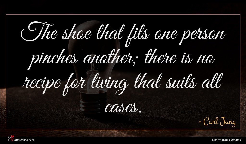 Carl Jung Quote The Shoe That Fits