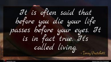 Photo of Terry Pratchett quote : It is often said …