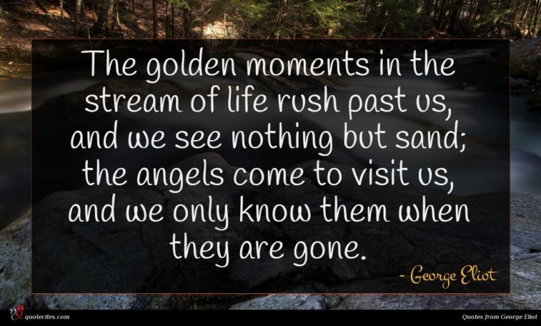 Photo of George Eliot quote : The golden moments in …