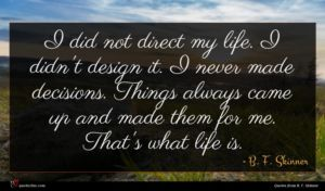 B. F. Skinner quote : I did not direct ...