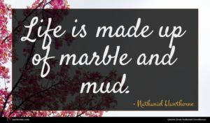 Nathaniel Hawthorne quote : Life is made up ...