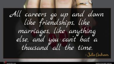 Photo of Julie Andrews quote : All careers go up …