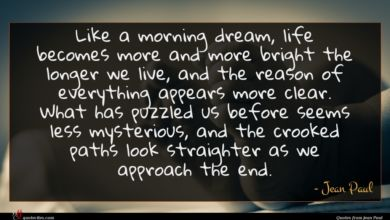 Photo of Jean Paul quote : Like a morning dream …