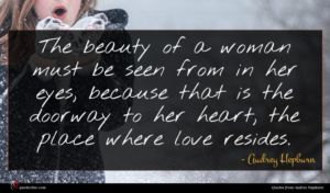 Audrey Hepburn quote : The beauty of a ...