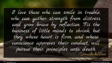 Photo of Leonardo da Vinci quote : I love those who …