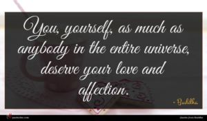 Buddha quote : You yourself as much ...