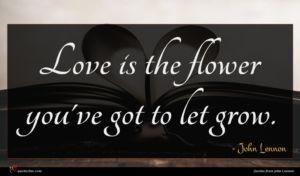 John Lennon quote : Love is the flower ...