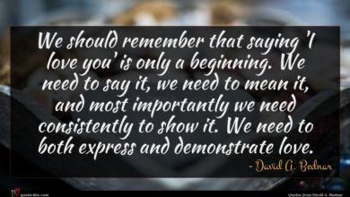 Photo of David A. Bednar quote : We should remember that …
