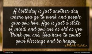 Abhishek Bachchan quote : A birthday is just ...