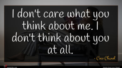 Photo of Coco Chanel quote : I don't care what …