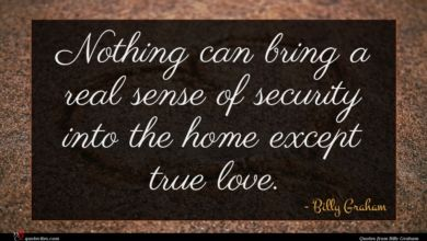 Photo of Billy Graham quote : Nothing can bring a …