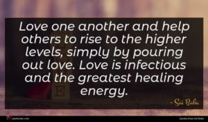 Sai Baba quote : Love one another and ...