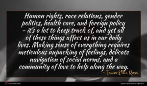 Tracee Ellis Ross quote : Human rights race relations ...