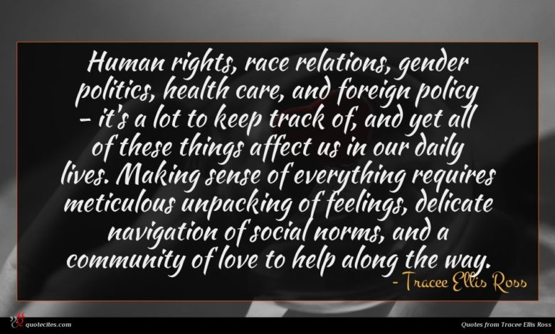 Photo of Tracee Ellis Ross quote : Human rights race relations …
