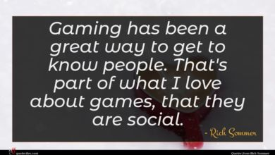 Photo of Rich Sommer quote : Gaming has been a …