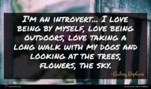 Audrey Hepburn quote : I'm an introvert I ...