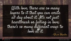Shawn Mendes quote : With love there are ...